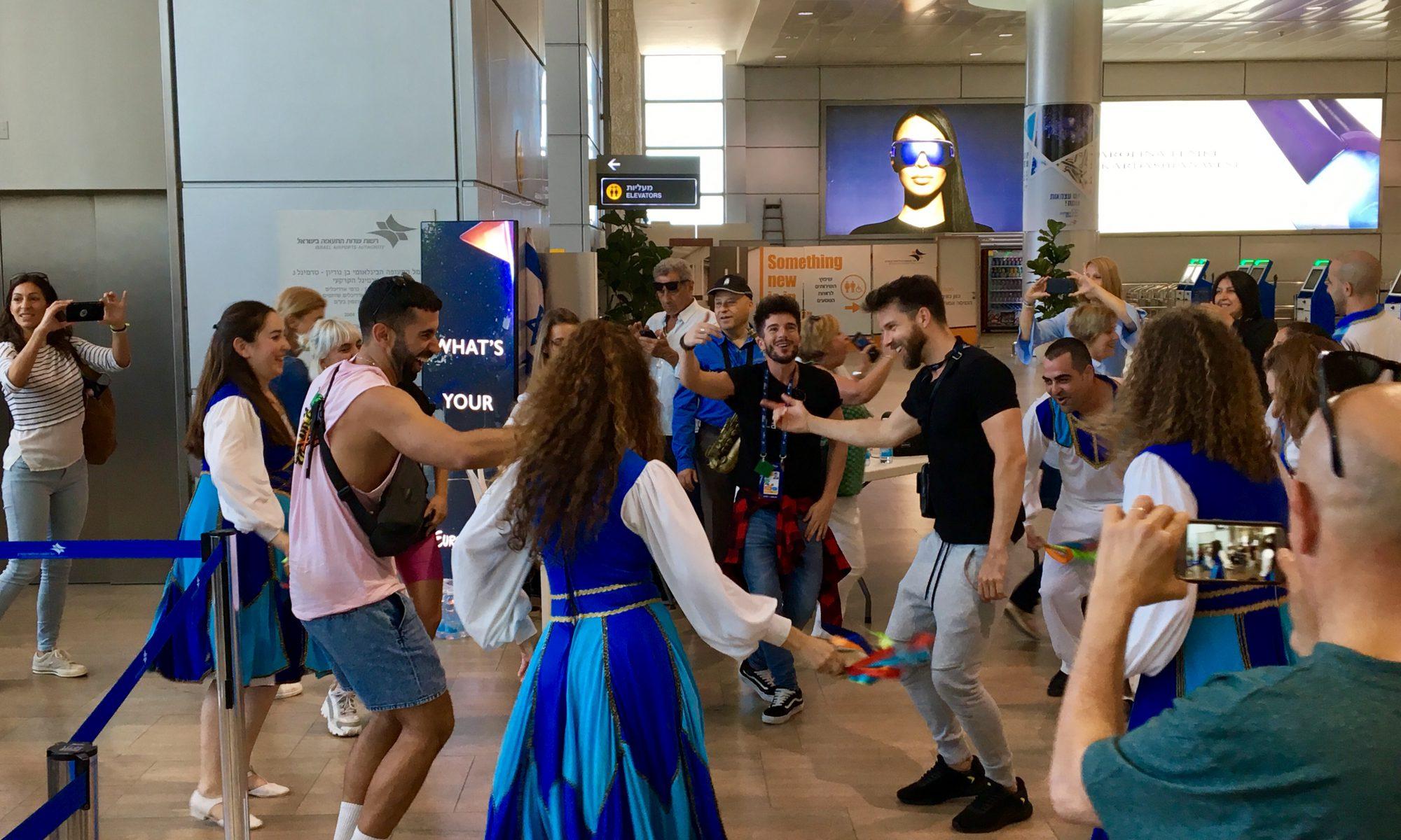 Verabschiedung aus Tel Aviv mit Tanz   Foto: Marc Schulte