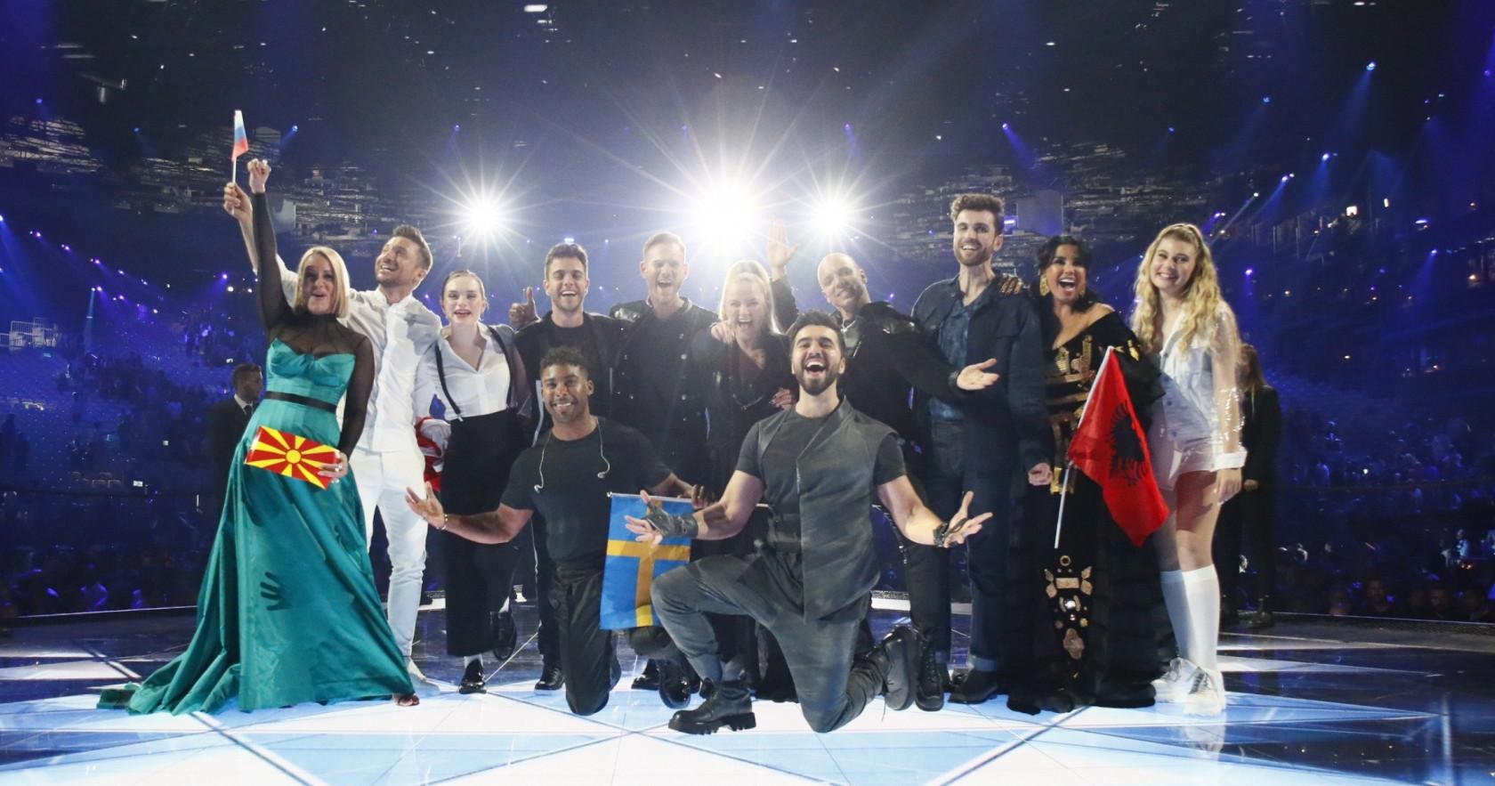 Die 10 Sieger des zweiten Semifinales | Foto: Andres Putting / EBU