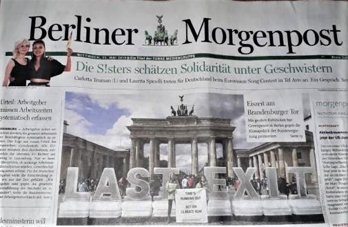 Titelblatt der Berliner Morgenpost vom 15.5.2019