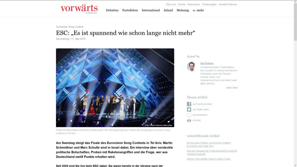 Screenshot vorwärts-Interview vom 17.5.2019