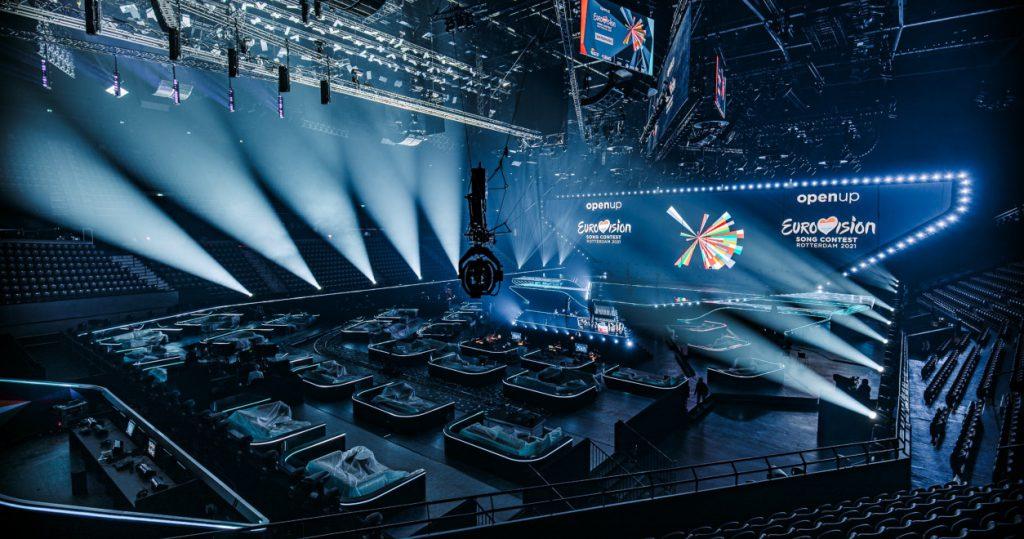 Die Ahoy Arena mit ESC-Ausstattung
